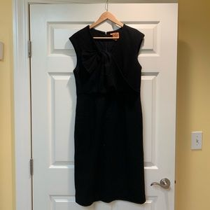 Tory Burch Black Wool Sleeveless Sheath Dress